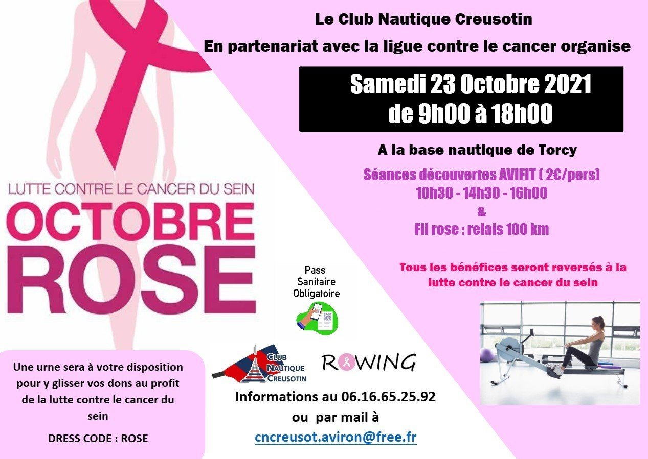 PINK OCTOBER: Come row on Saturday with the CNC to support breast cancer research